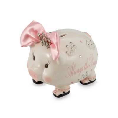 Mud Pie™ Baby Jeweled Tiara Piggy Bank
