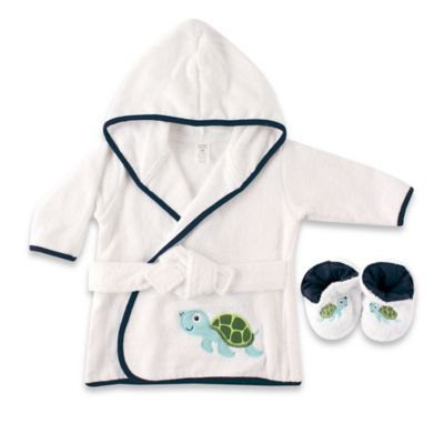 Baby Vision® Luvable Friends® Turtle Bathrobe and Slippers Set
