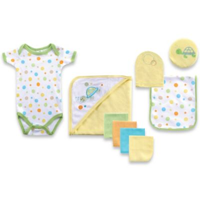 Baby Vision® Luvable Friends® Bath Time 9-Piece Set in Green