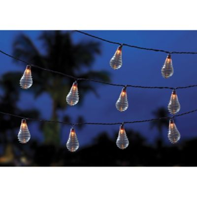 10-Bulb Solar Wire Wrapped Ball String Lights