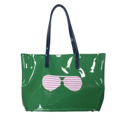 PVC Sunglasses Tote in Green