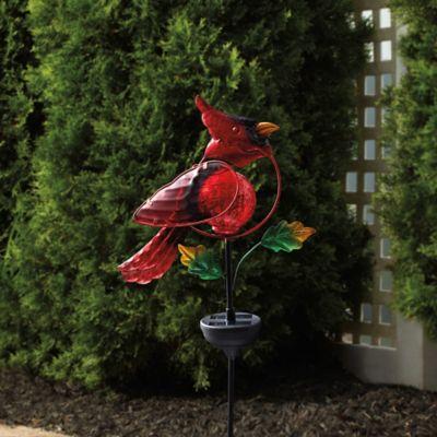 Cardinal Solar Garden Stake