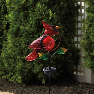Cardinal Solar Stake Light