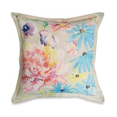 Colorful Floral Arrangement Square Throw Pillow