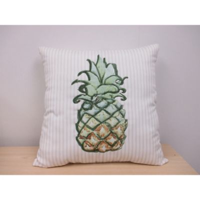 Welcoming Pineapple Outdoor Throw Pillow