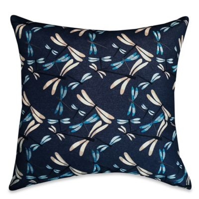 Playful Dragonflies Square Throw Pillow