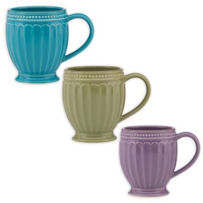 Lenox® French Perle™ Groove Mug in Robins Egg