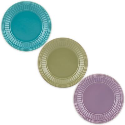 Lenox® French Perle™ Groove Plate in Ice Blue
