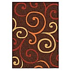 Aria Rugs Aria Multi Whirls 5-Foot 2-Inch x 7-Foot 6-Inch Area Rug in Brown