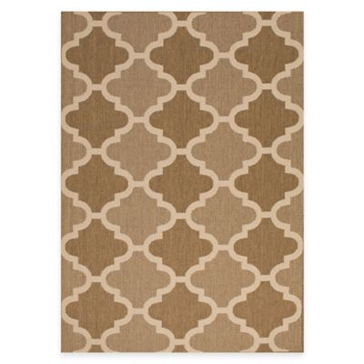 Paton 5-Foot 3-Inch x 7-Foot Indoor/Outdoor Rug in Brown/Beige