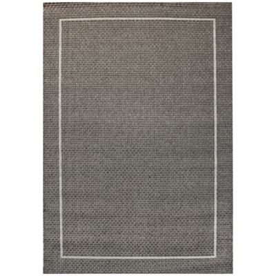 Miami Border 5-Foot 3-Inch x 7-Foot 10-Inch Indoor/Outdoor Area Rug in Grey