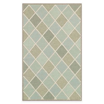 Seaside Diamond 5-Foot 3-Inch x 7-Foot 6-Inch Indoor/Outdoor Rug in Spa