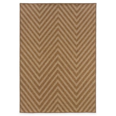 Chevron 5-Foot 2-Inch x 7-Foot 6 Indoor/Outdoor Rug in Seagrass