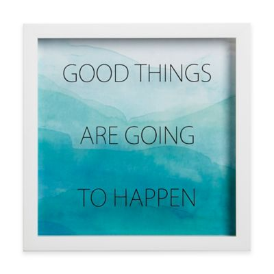 """Umbra® Motto Shadow Box """"Good Things Are Going To Happen"""" Framed Art"""