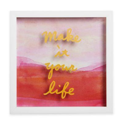 "Umbra® Motto Shadow Box ""Make It Your Life"" Framed Art"