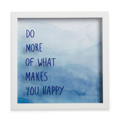 """Umbra® Motto Shadow Box """"Do More of What Makes You Happy"""" Framed Art"""
