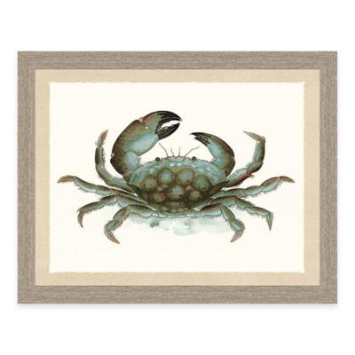 Framed Giclée Crab Print I Wall Art