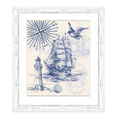 Framed Giclée Nautical Scene Print II Wall Art