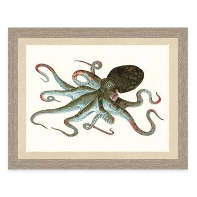 Framed Giclée Octopus Print Wall Art