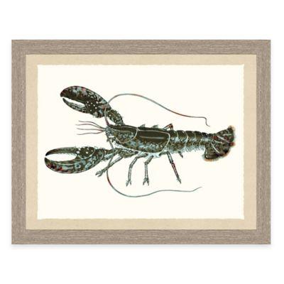 Framed Giclée Lobster Print Wall Art