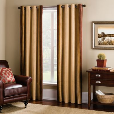 Kiri 63-Inch Grommet Top Window Curtain Panel in Rust