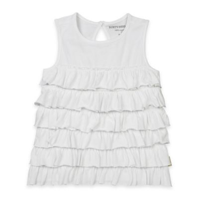Burt's Bees Baby® Size 12M Organic Cotton Sun-Bleached Tiered Ruffle Tank in White