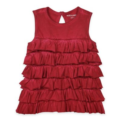Burt's Bees Baby® Size 6M Organic Cotton Sun-Bleached Tiered Ruffle Tank in Red