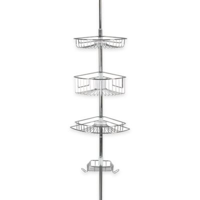Adjustable 3-Tier Tension Pole Shower Caddy in Oil Rubbed Bronze