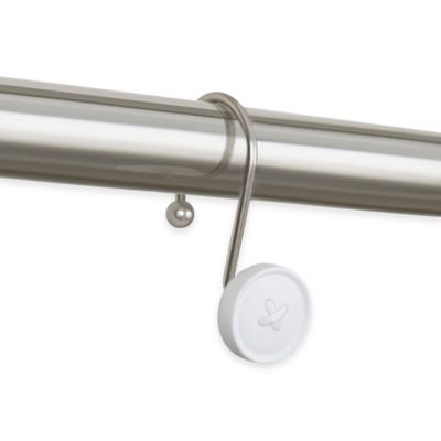 Button Shower Curtain Hooks in Hammered Brushed Nickel (Set of 12)