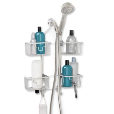 Never Rust™ Expandable Shower Caddy in Aluminum