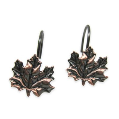 Excell Maple Leaf Orb Shower Curtain Hook in Oil Rubbed Bronze