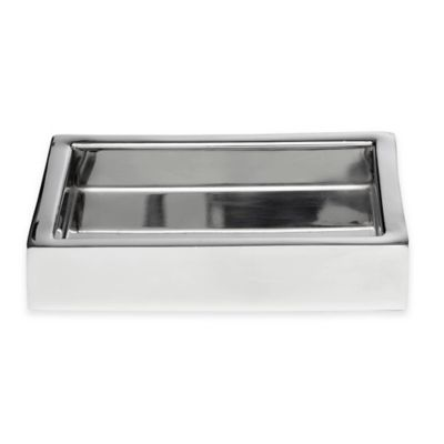 Roselli Trading Modern Bath Soap Dish in Stainless Steel