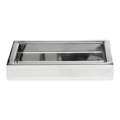 Roselli Trading Modern Bath Amenity Tray in Stainless Steel