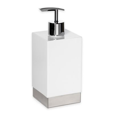 Roselli Trading Suites Lotion Dispenser in White/Stainless Steel