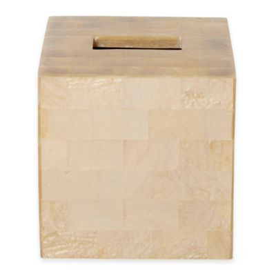 Roselli Trading Bellagio Mother of Pearl Boutique Tissue Box Cover