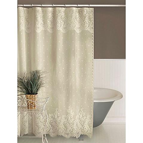 heritage lace floret shower curtain bed bath beyond