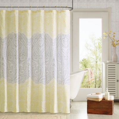 Naomi Shower Curtain in Yellow