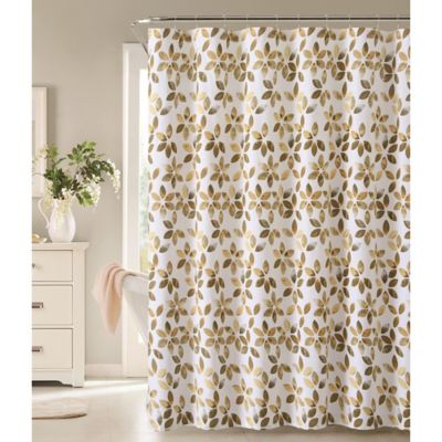 Veria Shower Curtain in Grey/Yellow