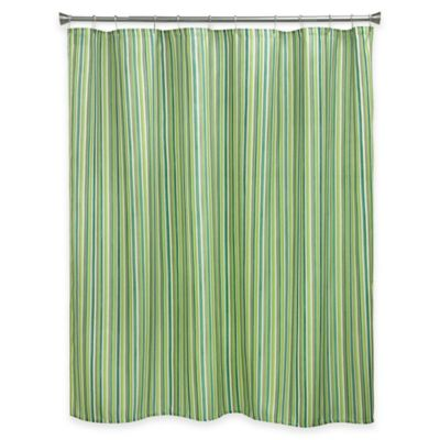 Bacova Sea Stripe Shower Curtain in Green/Blue