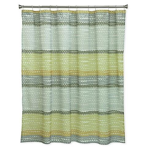 Bacova Rhythm Shower Curtain In Yellow Grey
