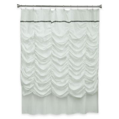 Bacova Grace Shower Curtain in White