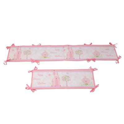 Disney® Princess Happily Ever After 4-Piece Crib Bumper Set