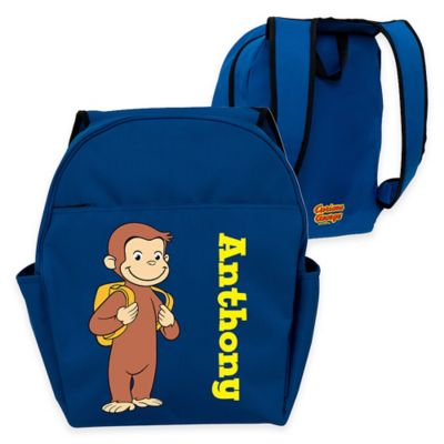 Curious George Ready for School Toddler Backpack in Blue