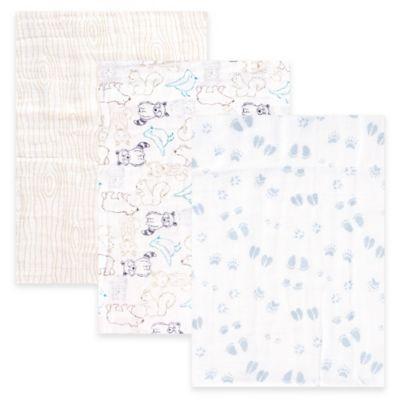 Blue Muslin Blankets