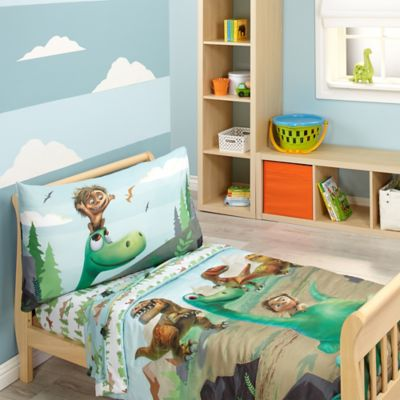 Disney® The Good Dinosaur Prehistoric Footprints 4-Piece Toddler Bedding Set
