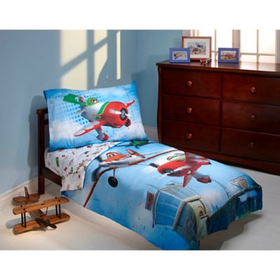 "Disney® ""Planes"" Own the Sky 4-Piece Toddler Bedding Set"