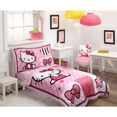 Hello Kitty® 4-Piece Toddler Bedding Set