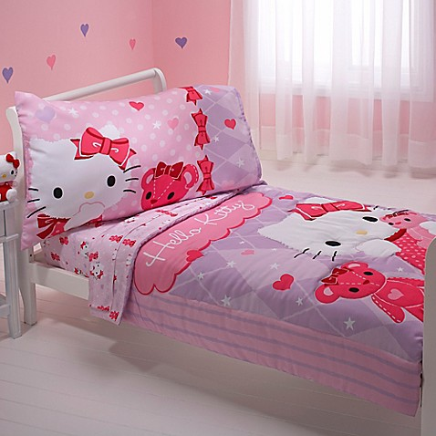 toddler bedding sets hello kitty friends 4 piece toddler bedding