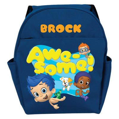 "Bubble Guppies ""Awesome"" Toddler Backpack in Blue"