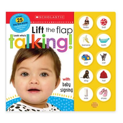 """Scholastic """"Lift the Flap: Look Who's Talking!"""" Board Book"""